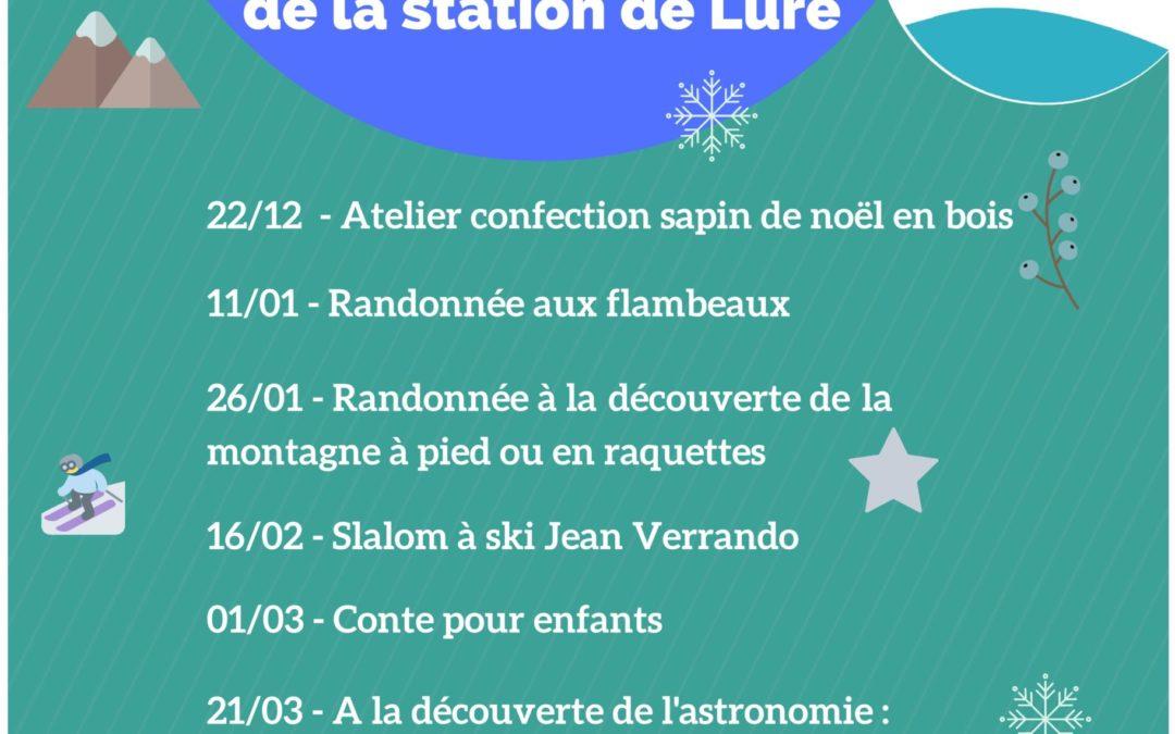 Programme des animations hiver de la station